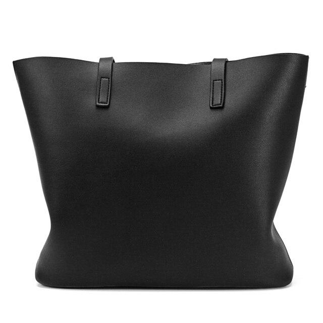 Women's PU Leather Tote Bag - Handbag With Purse Pocket Women Shoulder Large Tote Bag 2