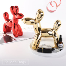 Cute Plating Balloon Dog Figurine Statue Money Boxes Imitation Dog Piggy Bank Cabinet Ornaments Home Art Decor for Creative Gift hungry eating dog electric money boxes
