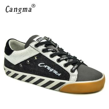 CANGMA Original  Canvas Sneakers Woman Shoes Spring Autumn Handmade Vintage Black Ladies Shoes Merk Schoenen Girl Scarpa