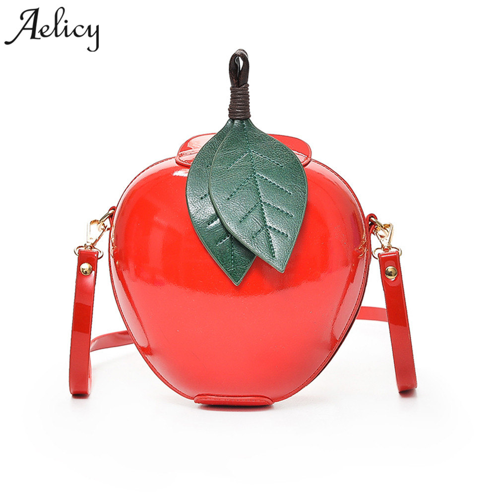 Aelicy women fashion apple handbag PU leather 2018 new design woman designer bags luxury high quality crossbody bags for women L aelicy luxury pu leather women s fashion hairball handbag bag female leather our brand soft new arrival crossbody bags for women