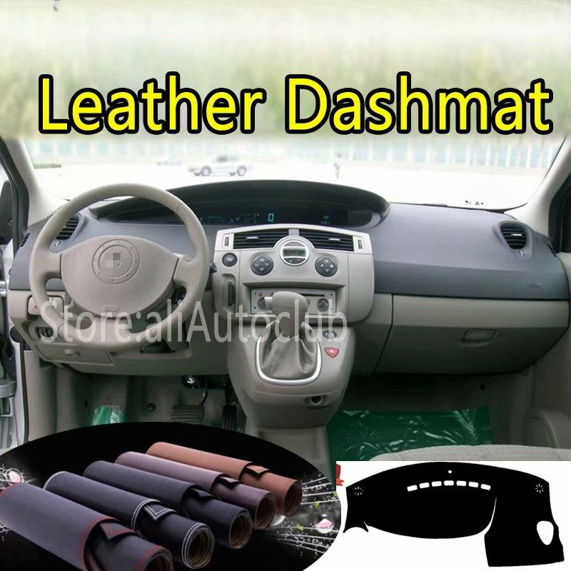 Für Renault Scenic II 2003 2004 2005 2006 2007 2008 2009 Leder Dashmat Dashboard Abdeckung Dash Teppich Custom Car Styling LHD + RHD