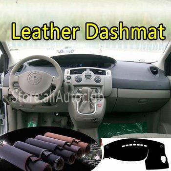 For Renault Scenic II 2003 2004 2005 2006 2007 2008 2009 Leather Dashmat Dashboard Cover Dash Carpet Custom Car Styling LHD+RHD