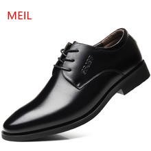 Genuine Leather Men Wedding Dress Shoes Men Formal Shoes Brand Luxury Fashion Lace up Mens Business Casual Oxford Shoes for Men(China)
