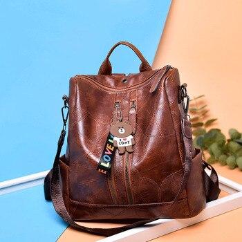 Stylish Backpack από τεχνόδερμα Γυναικείες Τσάντες - Backpacks Αξεσουάρ MSOW