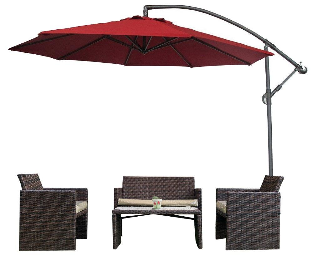 abba patio 10 ft offset cantilever patio umbrella with base and Base for 10 Ft Umbrella