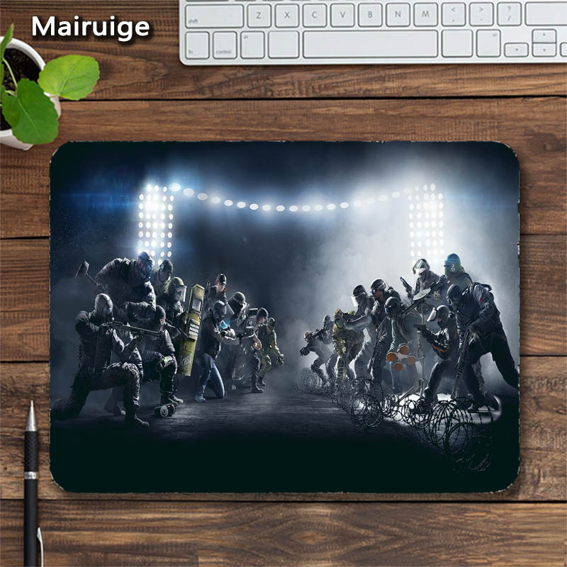 Mairuige Rainbow Six Gaming MousePads Icon Head Image Logo DIY FPS Rubber Anti-skid Game Pad for Gaming Mouse Pad Table Mat
