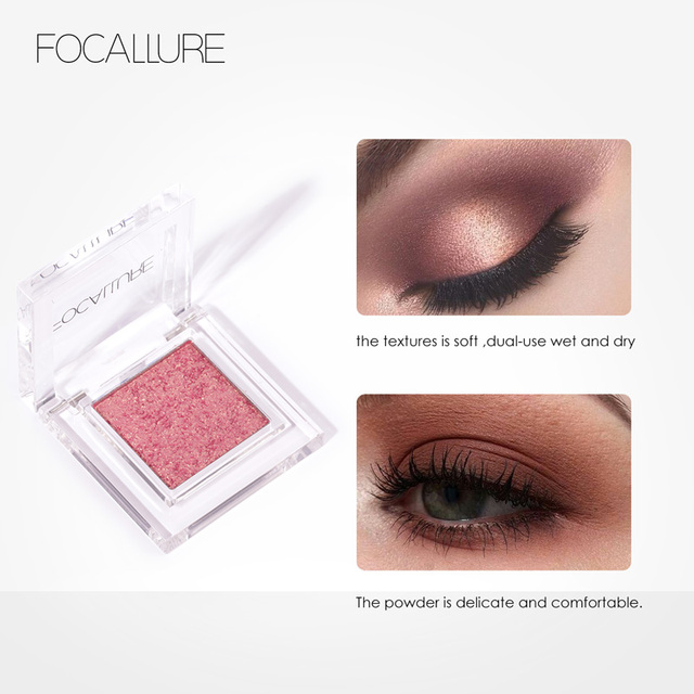 FOCALLURE Matte single Eyeshadow professional top quality powder pigmented shadow nude easy to wear matte eye shadow 3