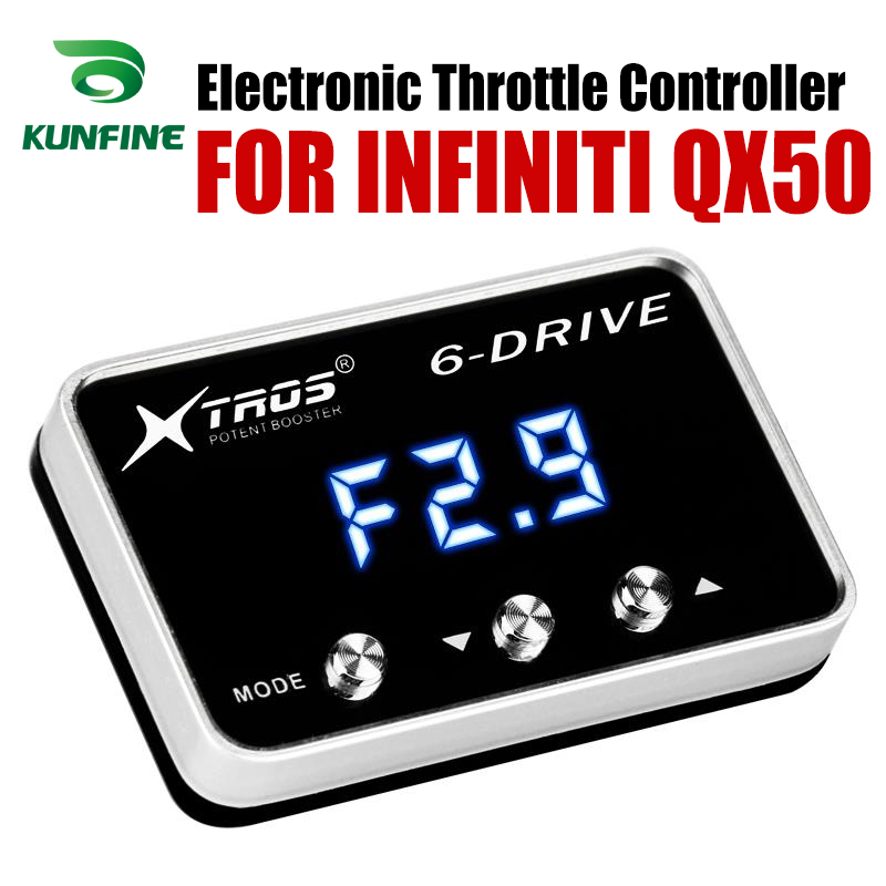 Car Electronic Throttle Controller Racing Accelerator Potent Booster For INFINITI QX50 Tuning Parts AccessoryCar Electronic Throttle Controller Racing Accelerator Potent Booster For INFINITI QX50 Tuning Parts Accessory