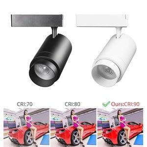 Image 3 - トラックランプズーム可能な12ワット/20ワット/30ワット調整可能なビーム角cob ledレール服靴ショップ展示ギャラリースポットライトスポットライト