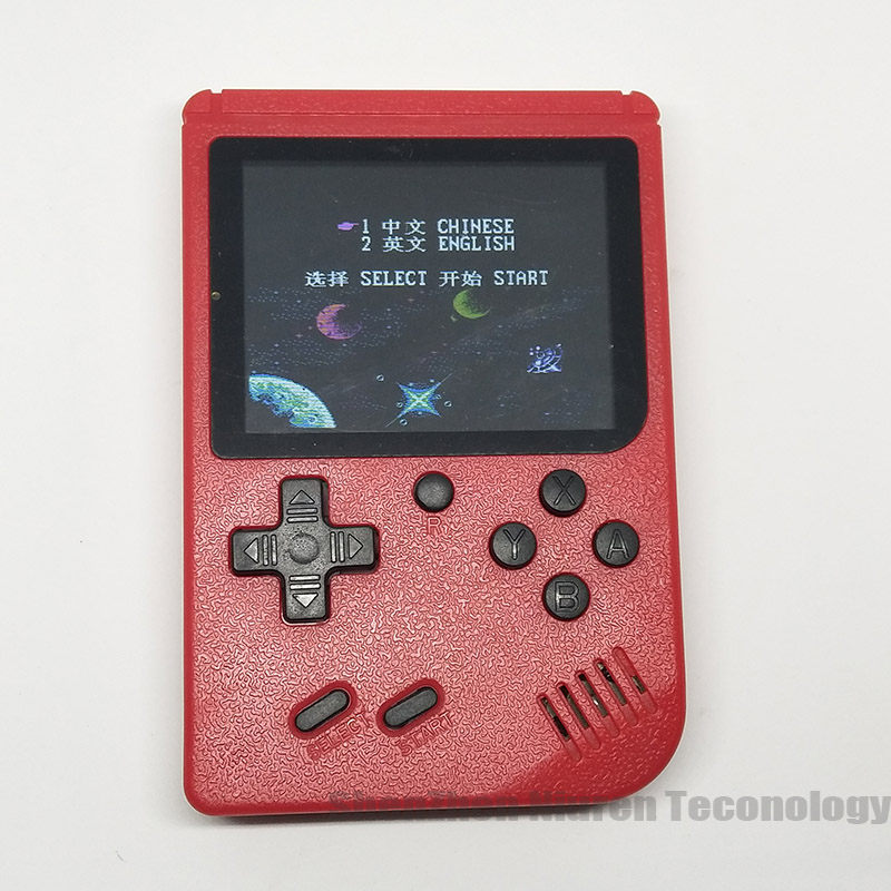 Sup Portable Video Handheld Game Console Retro Classic Mini Game Machine  Built-in 300 Classic Game red without gamepad 13