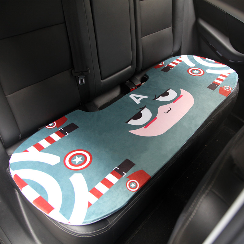 Cartoon Style Flax Car Seat Cushion Car Accessories Styling Interior Decoration Back Seat Universal Fit For Most Car Seat