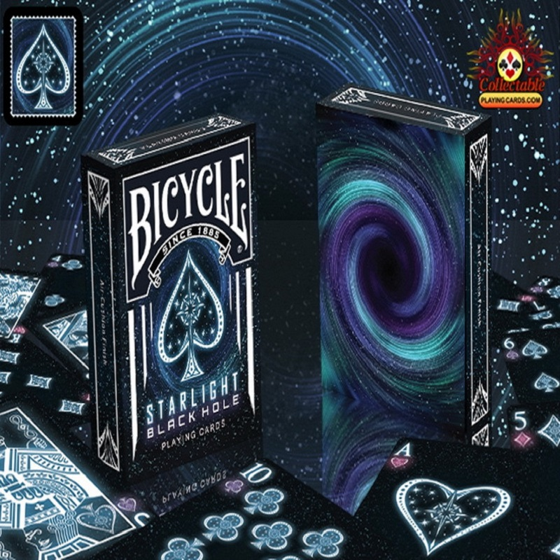 1 Deck Bicycle Starlight Black Hole speelkaarten Magische kaarten Poker Close Up Stage Magic Tricks voor professionele goochelaar