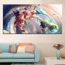 Sexy Jinx League-of-Legends Painting On Canvas Print Type And On The Wall Decorative Artwork 1 Panel Style Game Large Poster футболка print bar firecracker jinx