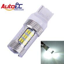Autoec 2x LED T20 7440 7443 W21W W21/5 Вт 56smd 4014 6000 К Фары заднего хода лампа чисто-белый DC 12 В # LD22