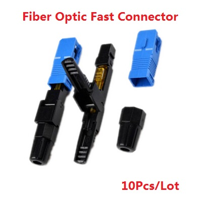 10pieces /lot wholesale SC APC Optic Fiber Quick Connector Multimode FTTH SC Single Mode UPC Fast Connector 10 pieces lot wholesale price brazilian