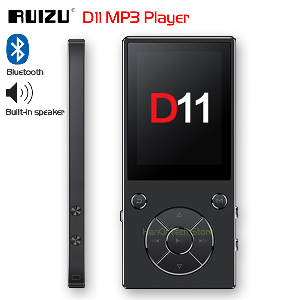 New Original RUIZU D11 Bluetooth MP3 Player Music Player 8GB Metal Music Player With Built-in Speaker FM Radio Support TF Card