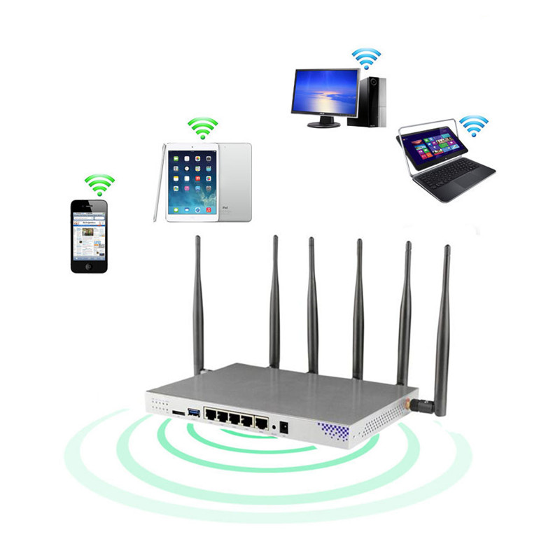 Openwrt 1200Mbps Wireless Router 3G/4G LTE Wireless Router Dual band Gigabit Wifi Router Wifi Repeater With SIM Card Slot-in Wireless Routers from Computer & Office