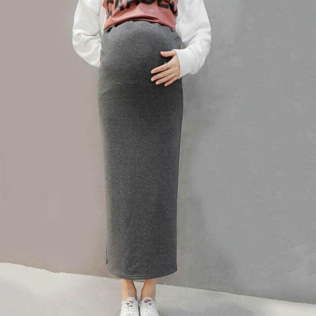 Embarazadas Mujeres Bump De Invierno Las Otoño Forro Larga Felpa Duración Falda Populares Con pqwE5Tqn
