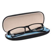 Hot Leather Glasses Case  Waterproof Hard Frame Eyeglass Women Reading Box Black Spectacle Cases classic glasses