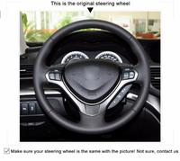 Black Artificial Leather Car Steering Wheel Cover for Mazda 3 Axela 2010 2013 Mazda 5 Mazda 6 CX 7 CX 9 MAZDASPEED3 (US)