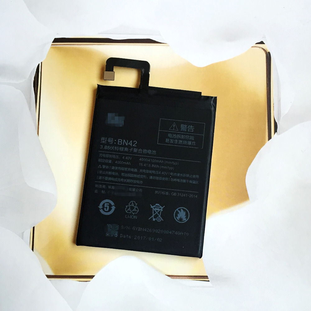 BN42 Battery For Xiaomi Redmi 4 (2G RAM 16G ROM Edition) For Xiao mi Hongmi 4 Bateria Batterij Accumulator 4000/4100mAh
