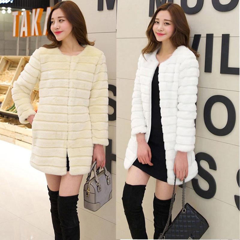 d1c07c3a2 Plus Size S 2XL Women Fashion Fluffy Shaggy Faux Fur Warm Winter ...