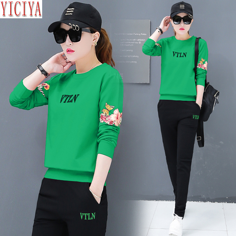 YICIYA Women Tracksuits 2 Piece Set Plus Size Large Pant Suits And Top Outfits Co-ord Set Autumn Winter Sportswear Fall Clothes