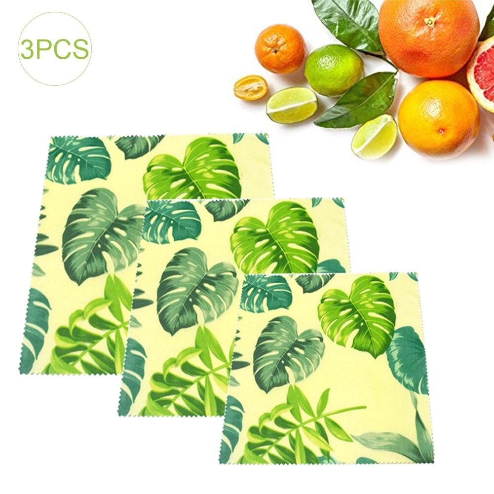 3PCs Organic Beeswax Food Wrap