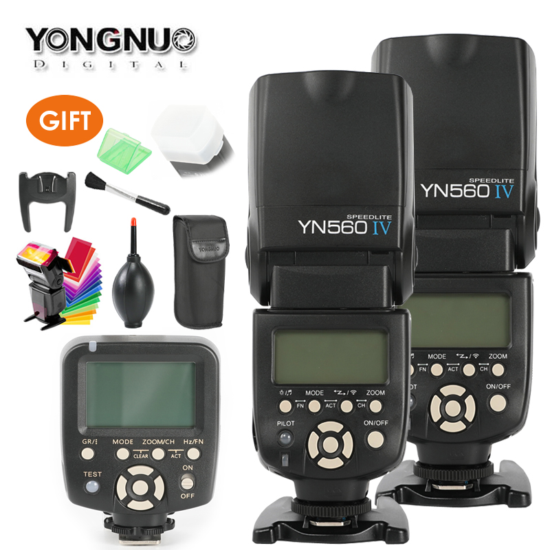 YONGNUO YN560 IV,YN-560 IV Master Radio Flash Speedlite + YN-560TX Controller for Canon Nikon D750 D800 1100D 650D 550D Camera yongnuo yn 560 iv master radio flash speedlite rf 603 ii wireless trigger for nikon d800 d7100 d610 canon 5div 650d camera