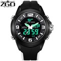 ZGO 2017 Dual Display Wristwatches Men Climbing Outdoor Sport Watches For Men Fashion& Casual Style Diver 5Bar Swim HIGH QUALITY