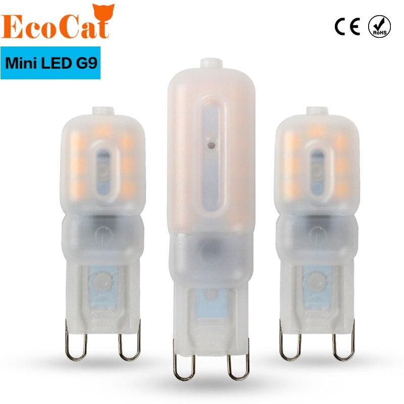 Эко Cat G9 светодиодный 220 В 14 светодиодный S 22 светодиодный s 32 светодиодный S светодиодный G9 светильник светодиодный лампы SMD 2835 Светодиодный G9 свет заменить 20 Вт/40 Вт/60 Вт галогенная лампа