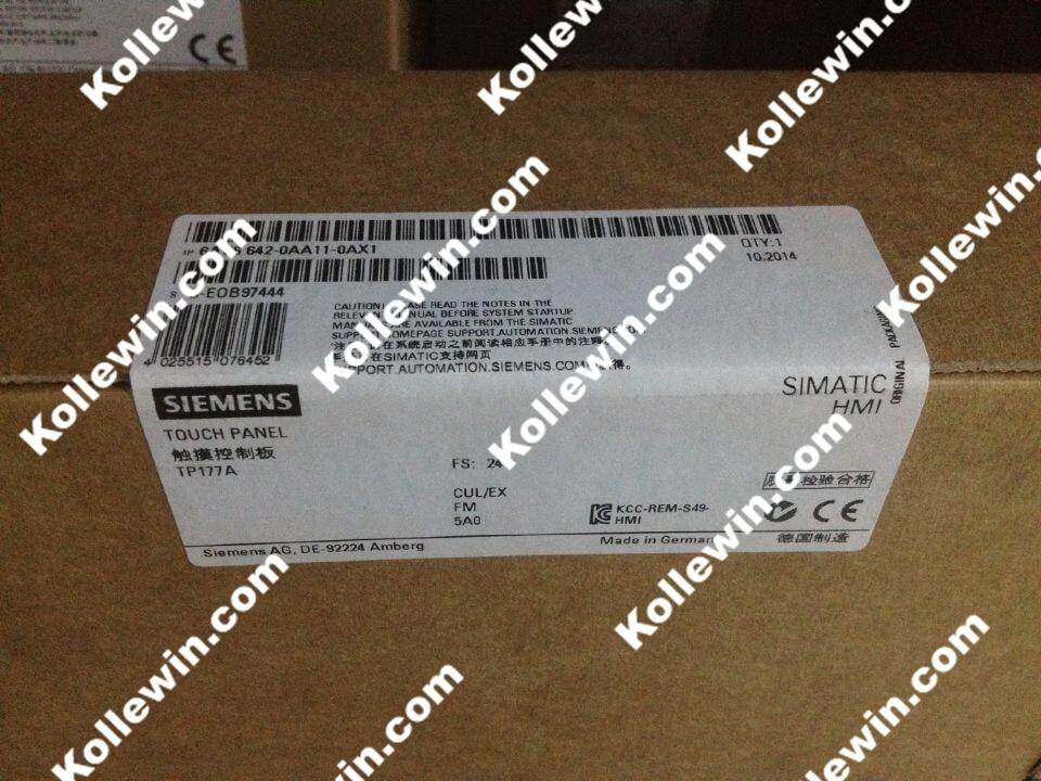 Original NEW SIMATIC HMI 6AV6 642-0AA11-0AX1,6AV6642-0AA11-0AX1 5,7 Blue Mode Touch Panel TP 177A,6AV66420AA110AX1 NEW in box new 6av3607 1jc30 0ax1 op7 hmi