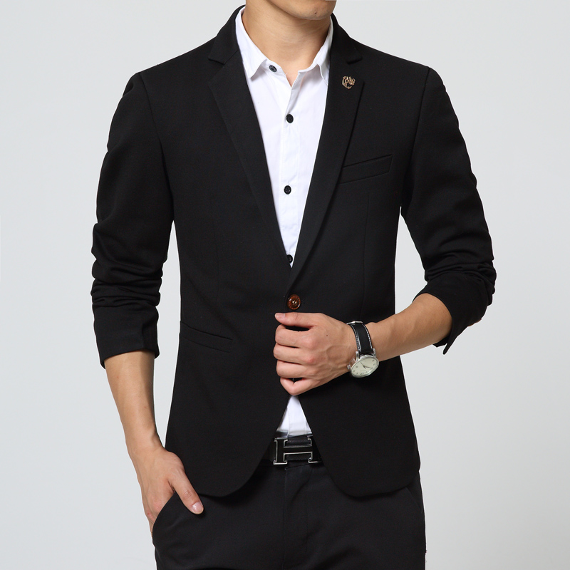 Online Get Cheap Mens Black Blazer Jacket -Aliexpress.com ...