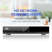 Metal Case H 264 VGA HDMI 4CH 8CH CCTV NVR 8Channel Mini NVR 1920 1080P ONVIF