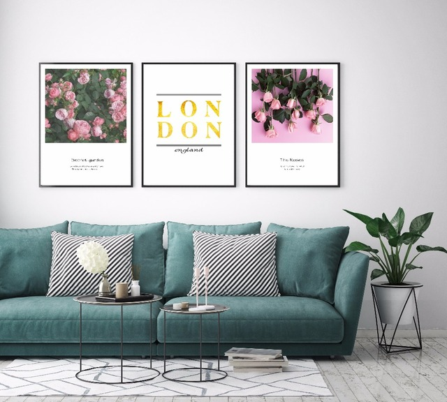 Nordic Minimalist Garden And Rose England Art Canvas Painting Posters Prints  Wall Pictures For Living Room
