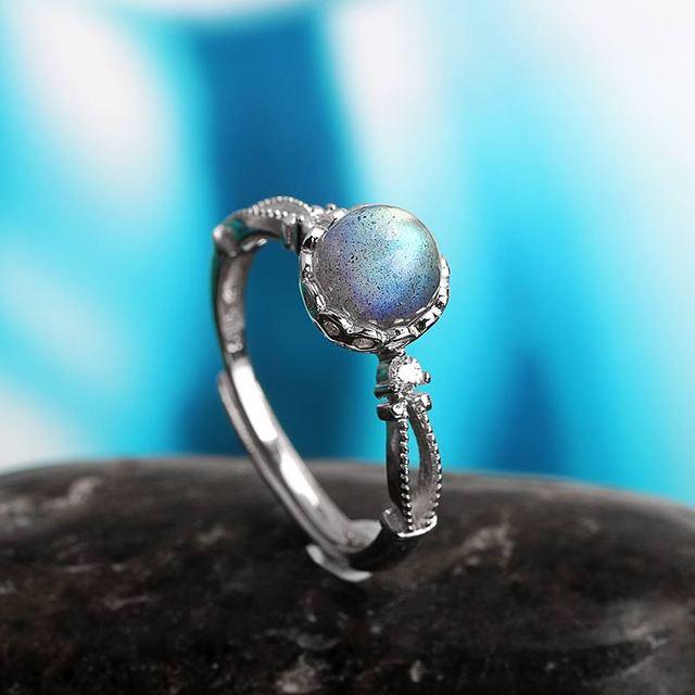 Adjustable Ring - Labradorite - S925 2