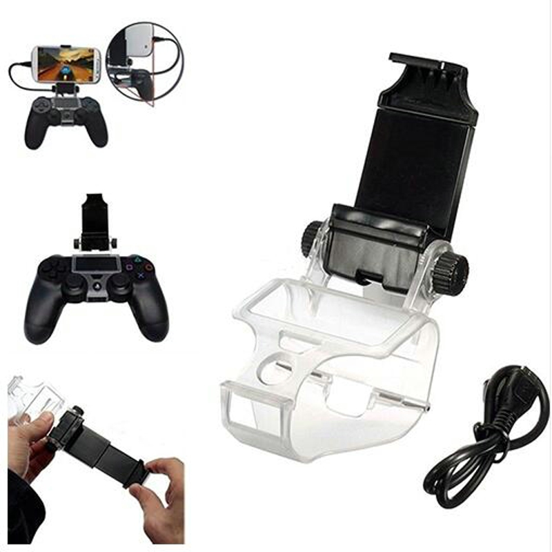 2018 HYT Mobile Phone Holder Smart Clip Clamp For Sony Playstation 4 PS4 Controller stand PS4 accessories