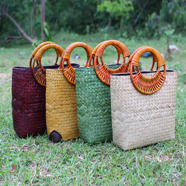 Handmade Seaweed Woven Bags