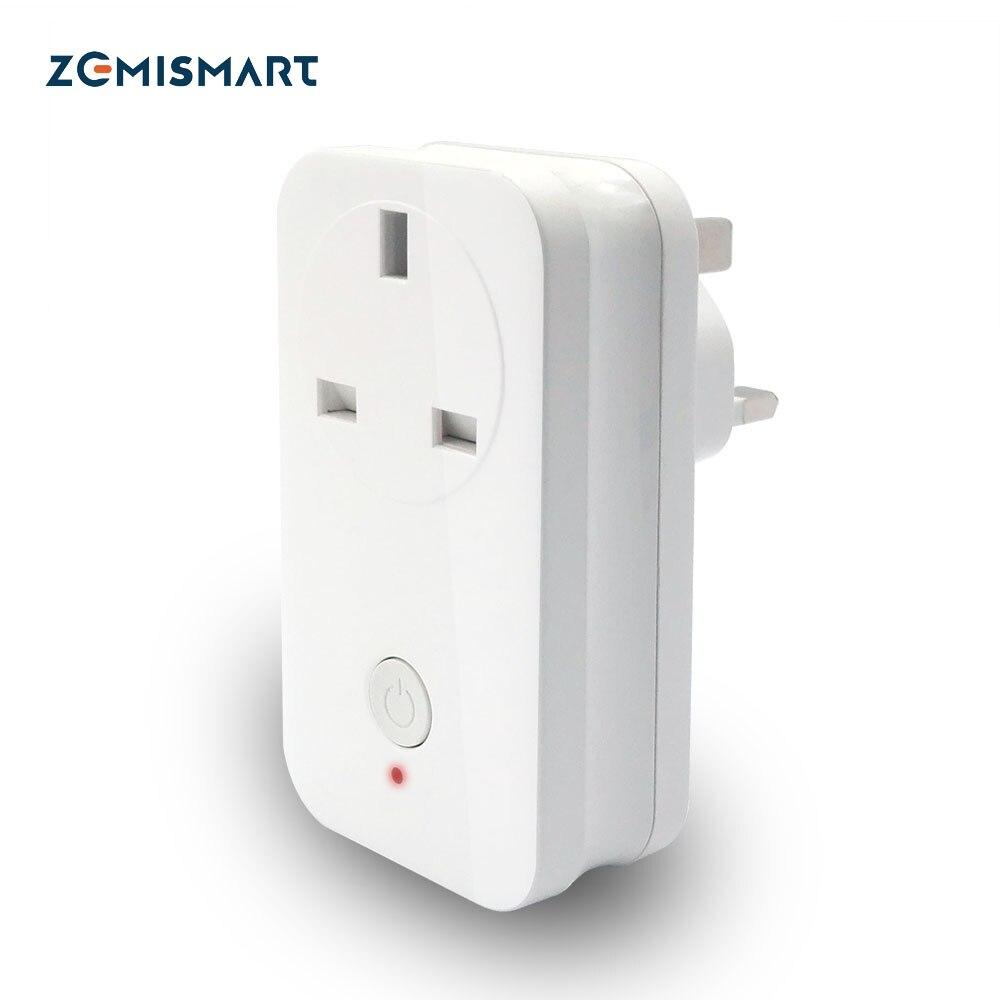 Zemismart Zigbee 3,0 Великобритания, гнездо питания SamrtThings Echo Plus включить умный гаджет переключатель ZigBee ретранслятор выход