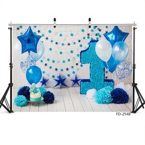 Image 3 - Ballon Ster Decoraties Vinyl Doek Fotografische Achtergrond Voor Fotostudio Kinderen Baby Verjaardagsfeestje Achtergrond Fotostudio