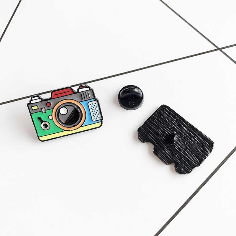 Hoạt Hình 1 Camera Rainbow Kỹ Thuật Số Men Chân Xám Phối Nón Ba Lô Chụp Ảnh Và Trẻ Em Huy Hiệu Quà Tặng Đỏ Xanh Thổ Cẩm