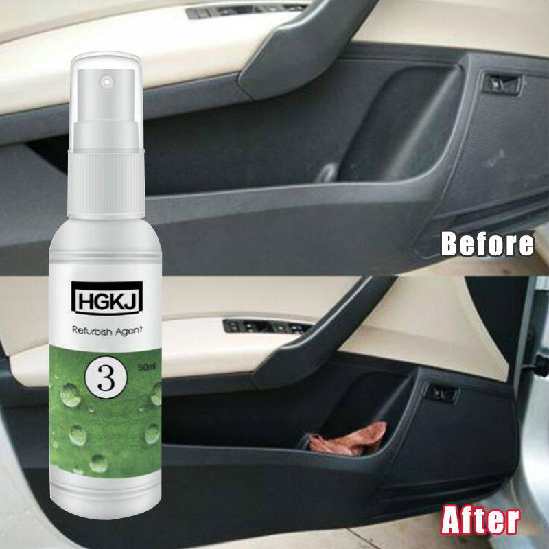 Hgkj Ceramics Car Coating Leather Cleaner Car Interior Cleaner Polish Car Scratch Repair Fluid Polishing Wax LeatherRemove Care