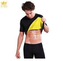 Cn Herb Sweat Vest Thin Body Abdomen Sweating Short sleeved Yoga Slim Fat Burner