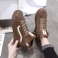 SARAIRIS new arrivals dropship large size 35 40 lace up Vulcanize Shoes woman footwear black brown casual hot sale run shoes