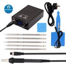 Цифровая паяльная станция T12, 110 В, 220 В, 75 Вт, регулятор температуры, электрические паяльные инструменты T12 с 5 наконечниками