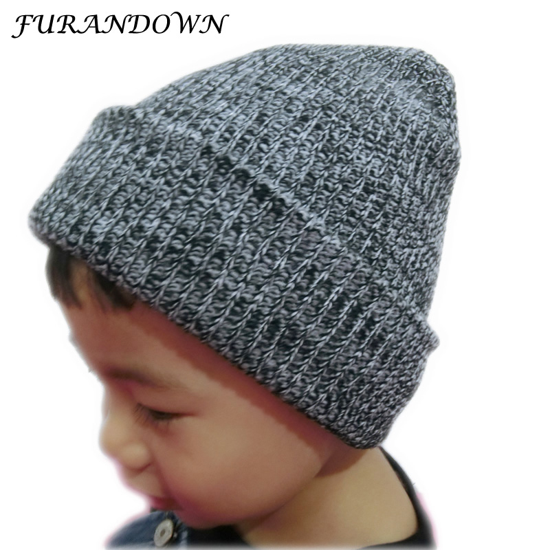 FURANDWON Brand Winter Girls Cap Kids Knitted Wool Hats For Children Boys Hat Cap Baby skullies beanies knitted skullies cap the new winter all match thickened wool hat knitted cap children cap mz081