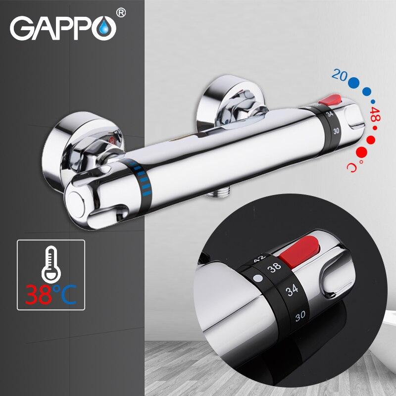 GAPPO robinets de baignoire mitigeur de salle de bain robinets de bain robinets cascade bain thermostatique ensemble de douche robinet de baignoire