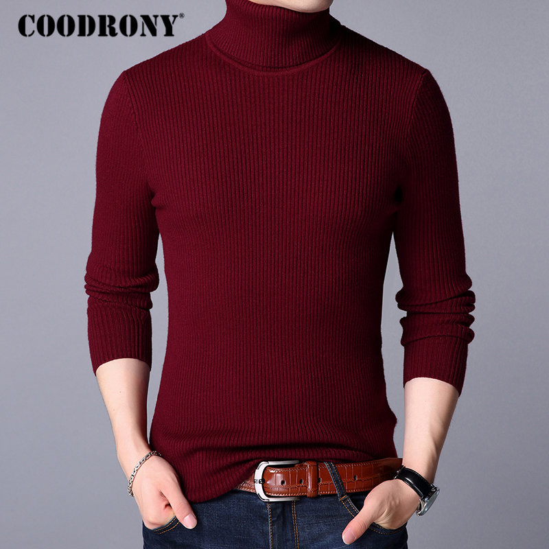 Image 4 - COODRONY Christmas Sweater Men Clothes 2019 Winter Thick Warm Mens Sweaters Casual Classic Turtleneck Cashmere Pullover Men 8253-in Pullovers from Men's Clothing