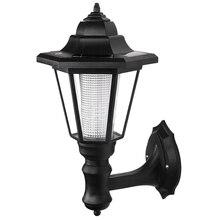 LED alimentata solare della parete lanterne a parete esterna della lampada della luce del giardino porta recinzione