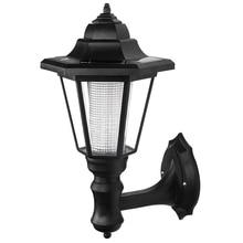 цена на LED solar powered wall lanterns wall light lamp outdoor garden fence door
